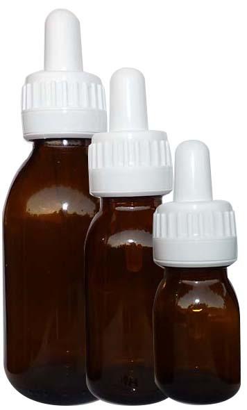 Botellas de vidrio diferente formato